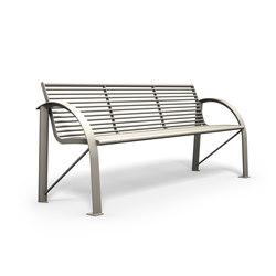 Siardo 120R bench | Exterior benches | BENKERT-BAENKE