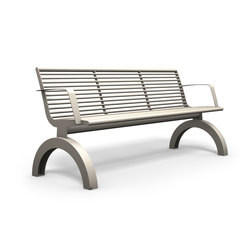 Siardo 140R bench with armrests | Exterior benches | BENKERT-BAENKE