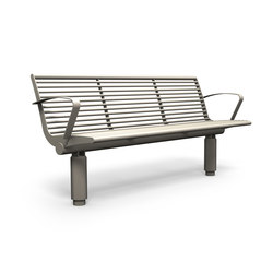 Siardo 400R bench with armrests | Exterior benches | BENKERT-BAENKE