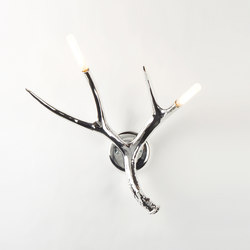 Superordinate Antlers sconce hardwired chrome | Allgemeinbeleuchtung | Roll & Hill