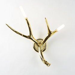 Superordinate Antler Sconce (Gold) | Appliques murales | Roll & Hill