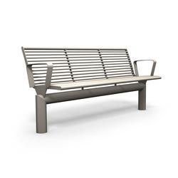 Siardo L40R bench with armrests | Panche | BENKERT-BAENKE