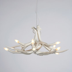 Superordinate Antlers chandelier 6 antlers white | Ceiling suspended chandeliers | Roll & Hill