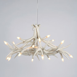 Superordinate Antlers chandelier 12 antlers white | Ceiling suspended chandeliers | Roll & Hill