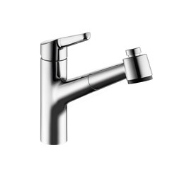 KWC WAMAS Lever mixer|Pull-out spray with KWC JETCLEAN | Wash basin taps | KWC
