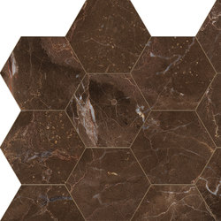 Anima Decors Esagono | Dark Emperador | Floor tiles | Caesar