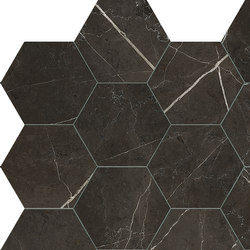 Anima Decors Esagono | Graphite | Ceramic tiles | Caesar