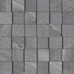Lake grey mosaic 3D | Ceramic mosaics | Ceramiche Supergres