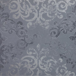Visual blue campitura damask | Lastre | Ceramiche Supergres