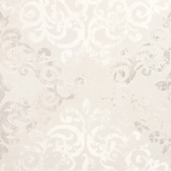 Visual white campitura damask | Slabs | Ceramiche Supergres