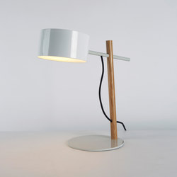 Excel Desk Lamp (White/Oak) | Lámparas de sobremesa | Roll & Hill