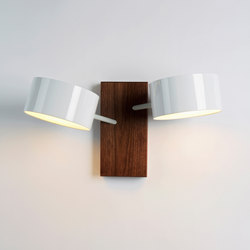 Excel double sconce white | General lighting | Roll & Hill