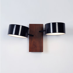 Excel double sconce black | Iluminación general | Roll & Hill