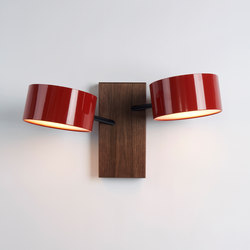 Excel double sconce red | General lighting | Roll & Hill