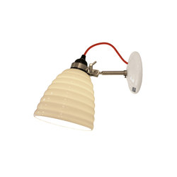 Hector Bibendum Wall Light, White with Red Cable | Reading lights | Original BTC Limited