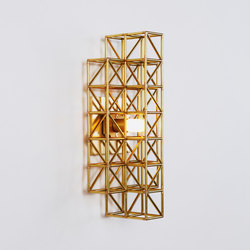 Gridlock Sconce - 193 (Raw brass) | Lámparas de pared | Roll & Hill