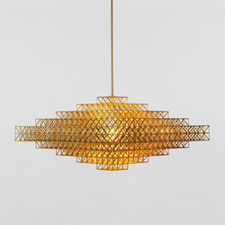 Gridlock Pendant - 7440 (Raw brass) | Suspended lights | Roll & Hill