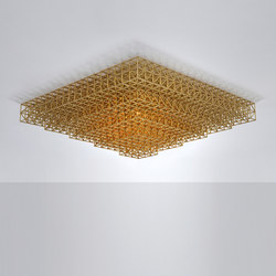 Gridlock Ceiling Mount - 5640 (Raw brass) | Ceiling lights | Roll & Hill