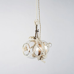 Knotty Bubbles Pendant - Small (Natural/Clear) | Lámparas de suspensión | Roll & Hill