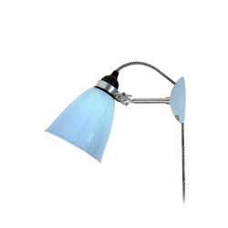 Hector Medium Dome Wall Light PSC, Light Blue | Lampes de lecture | Original BTC Limited