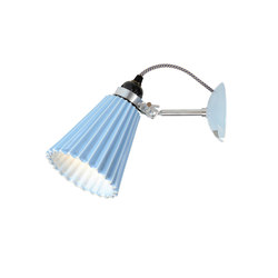 Hector Medium Pleat Wall Light, Light Blue | Lampes de lecture | Original BTC Limited