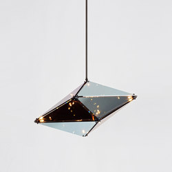 Maxhedron 30 inches - Horizontal (Oil-rubbed bronze/Transparent mirror) | Lámparas de suspensión | Roll & Hill