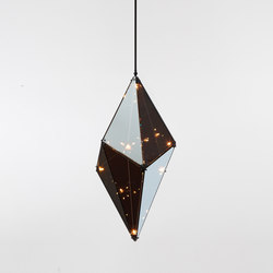 Maxhedron 30 inches - Vertical (Oil-rubbed bronze/Transparent mirror) | Lámparas de suspensión | Roll & Hill