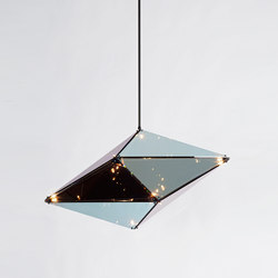 Maxhedron 42 inches - Horizontal (Oil-rubbed bronze/Transparent mirror) | Lámparas de suspensión | Roll & Hill