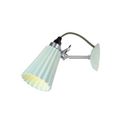 Hector Small Pleat Wall Light, Light Green | Lampade da lettura | Original BTC Limited
