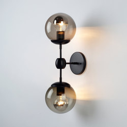 Modo Sconce - 2 Globes (Black/Smoke) | Lámparas de pared | Roll & Hill
