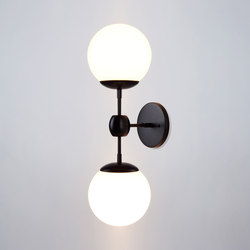 Modo sconce 2 globes cream | General lighting | Roll & Hill