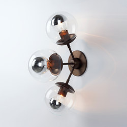 Modo Sconce - 3 Globes (Bronze/Clear) | Appliques murales | Roll & Hill