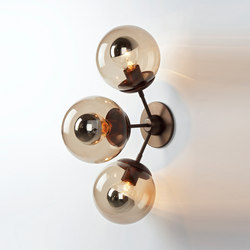 Modo sconce 3 globes bronze smoke | Iluminación general | Roll & Hill