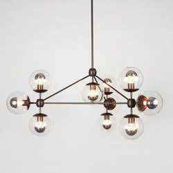 Modo chandelier 10 globes bronze clear | Iluminación general | Roll & Hill