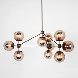 Modo chandelier 10 globes bronze smoke | General lighting | Roll & Hill