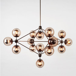 Modo chandelier 15 globes bronze smoke | Suspended lights | Roll & Hill