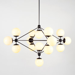 Modo chandelier 15 globes black cream | General lighting | Roll & Hill