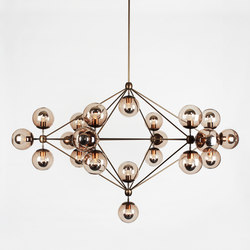 Modo chandelier 21 globes bronze smoke | Suspended lights | Roll & Hill