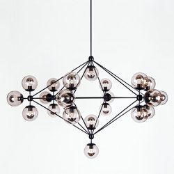Modo chandelier 21 globes black smoke | Illuminazione generale | Roll & Hill
