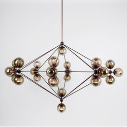 Modo chandelier 27 globes bronze smoke | General lighting | Roll & Hill