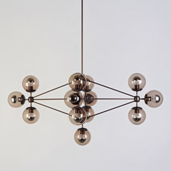 Modo chandelier diamond 13 globes bronze smoke | General lighting | Roll & Hill