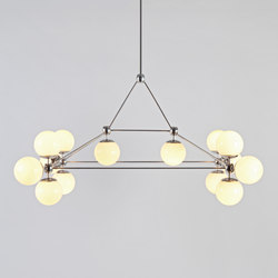 Modo chandelier rectangle 14 globes | General lighting | Roll & Hill