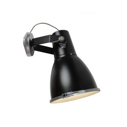 Stirrup 3 Wall Light with Sandblasted Glass, Black | Leseleuchten | Original BTC Limited