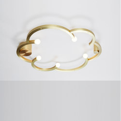 Blow Ceiling Mount (Brushed brass) | Plafonniers | Roll & Hill