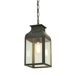 0277 Pendant Lantern, Weathered Brass, Clear Glass | Éclairage général | Davey Lighting Limited