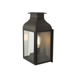 0276 Wall Lantern Weathered Brass, Clear Glass | Illuminazione generale | Original BTC