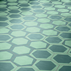 Navone On/Off Teal | Concrete/cement floor tiles | Bisazza