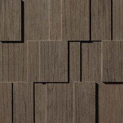 Bord Nutmeg Mosaico Row 3D | Azulejos de mosaicos | Atlas Concorde