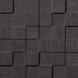 Bord Liquorice Mosaico Square 3D | Mosaic tiles | Atlas Concorde