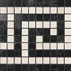 Marvel PRO Noir/Cremo Greca Mosaico shiny | Ceramic mosaics | Atlas Concorde